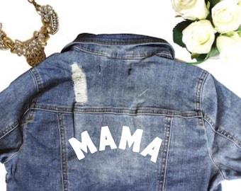 a42c567924dcd Mama Denim Jacket. Custom Denim Jacket. Personalized Jean Jacket. Mama Jean  Jacket. Mothers Day. Baby Shower. Gift for Mom