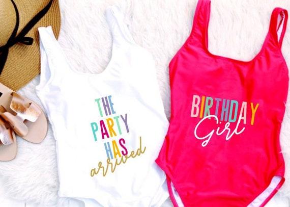 e5a8b95b24730 Birthday Girl Suit. Birthday Suit. Birthday Swim. Birthday