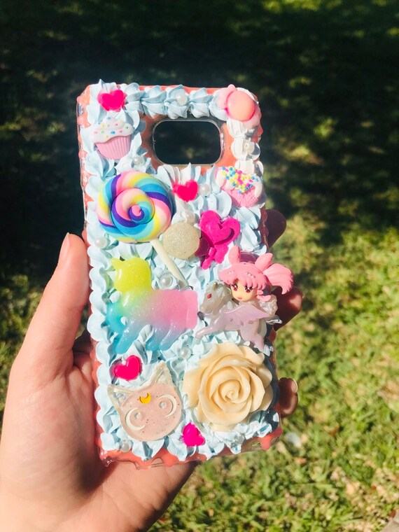 purchase cheap 8f255 273e8 Anime Girl Pink Decoden Phone Case Samsung Galaxy S7 Plus