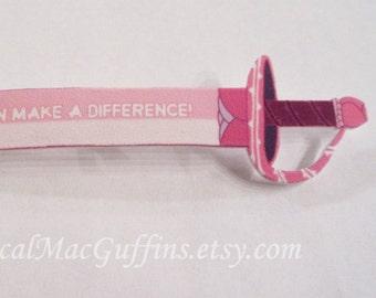 Steven Universe Inspired Connie Maheswaran Rose Quartz Sword Affirmation Pin