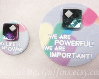 Crystal Gems Bismuth Steven Universe Affirmation Button And Pin