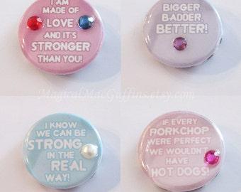 Crystal Gems Garnet Amethyst Pearl Ruby Sapphire Rose Quartz Peridot Lapis Lazuli Steven Universe Affirmation Buttons