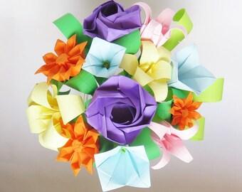 Origami Bell Flower Etsy