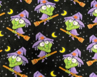 Large Halloween Witches Fleece Dog or Cats Pet Bed, 28x30, Handmade, Washable, Dog Pet, Cats Bed, Goth