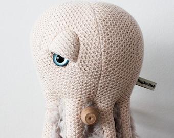 Small Mama Octopus - Handmade Plush toy