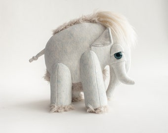 Small Ice Mammoth - Handmade Stuffed Animal