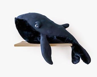 Big Night Whale - Handmade Stuffed Animal
