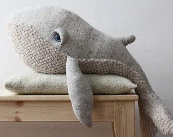 Big Original Whale - Handmade Stuffed Animal