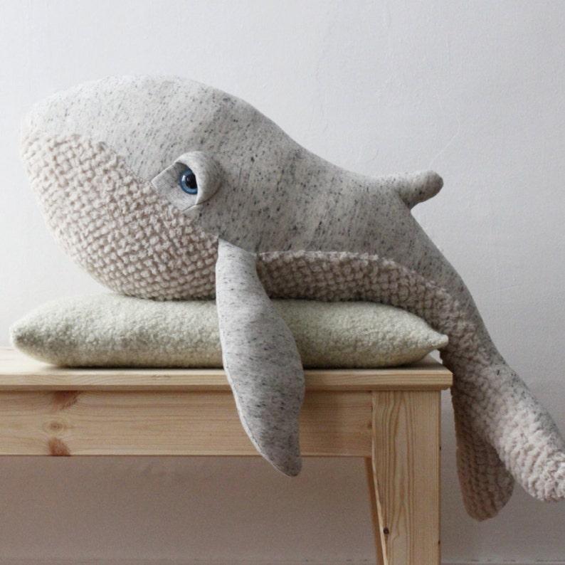 Big Original Whale  Handmade Stuffed Animal  image 1