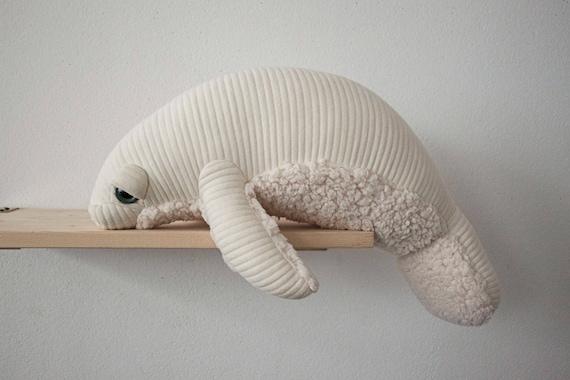 Small Albino Manatee Handmade Stuffed animal
