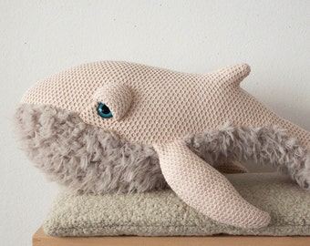 Small Mama Whale - Handmade Stuffed Animal
