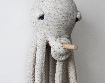 Big Original Octopus - Handmade Stuffed Animal