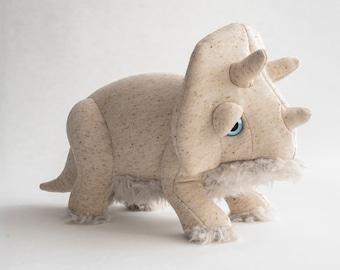 Small Albino Trino - Handmade Stuffed Animal