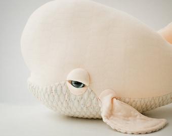 Big Lady Beluga - Handmade Plush toy