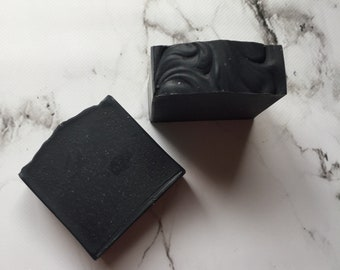 Tea tree and Charcoal soap / Handmade Vegan soap / Facial soap / Natural soap / Face soap / Activated charcoal soap / Handcrafted aloe soap