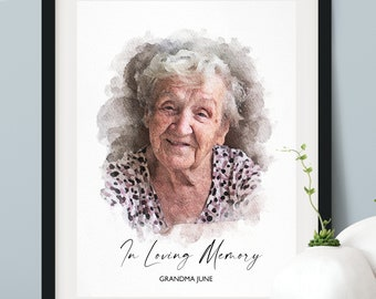 In Loving Memory Gift, Loss of Mother, Loss of Father, Condolence Gift, Memorial Gift, Sympathy Gift, Bereavement Gift, Family Portrait