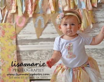 The Lulu Tutu Birthday Outfit, Scrap Fabric Tutu, First Birthday