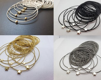 Special Spring bracelets jewelry in colors silver or gold Size  L  Scope  8.5  inc and thickness 1.25 mm
