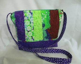 Floral polka dot purse