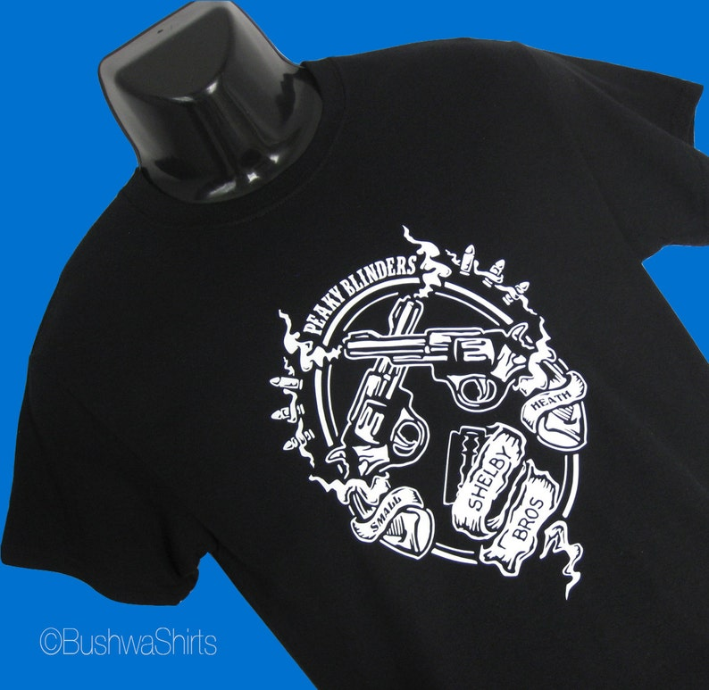 0ba696eb8 New Shelby Bros PEAKY BLINDERS Inspired T Shirt Tee Shirt Top   Etsy