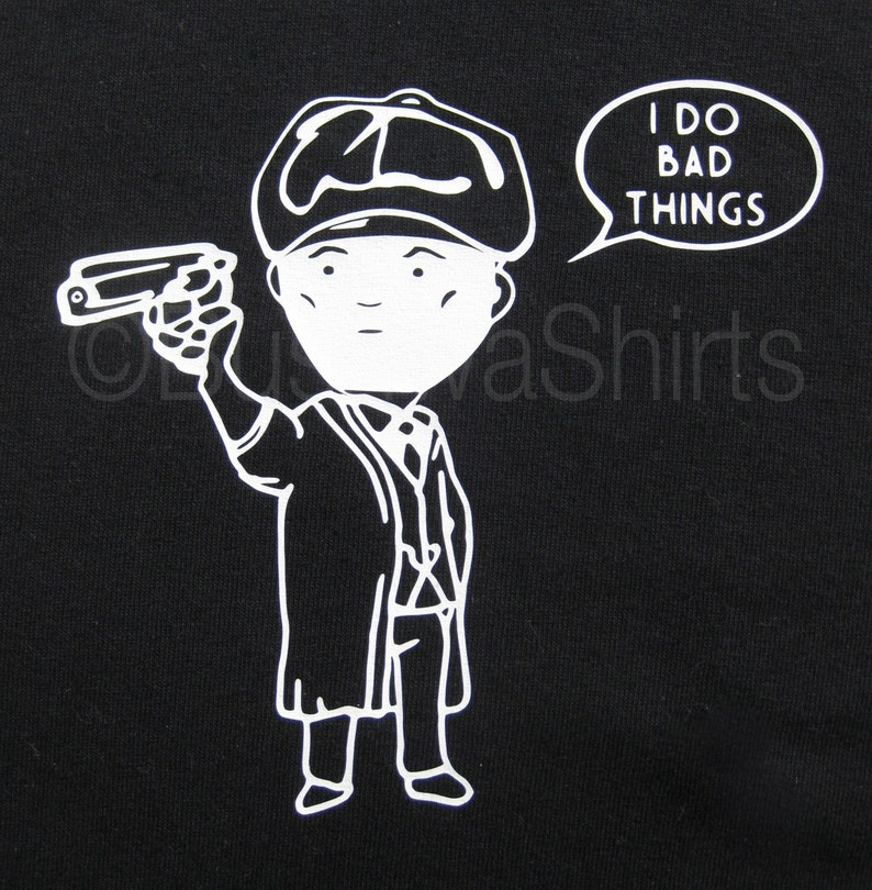 a7cb6dd9c Tommy Shelby Peaky Blinders Inspired Cartoon Tee T Shirt Mens   Etsy