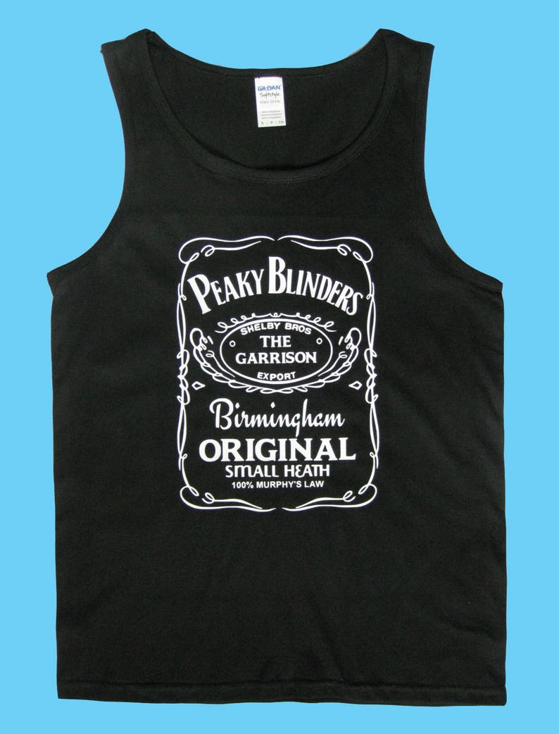 7208cc1d6 Shelby Bros Peaky Blinders Inspired Tank T Shirt Top Mens Gym   Etsy