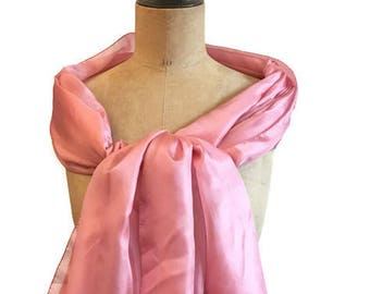Pink Silk scarf , perfect for ceremony, brides ..