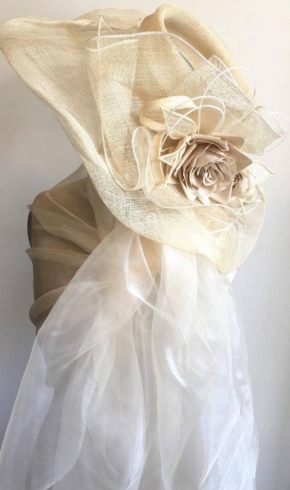 Étole Organza ivoire pour mariée étole organza blanc ivoire   Etsy 0e3e25590db