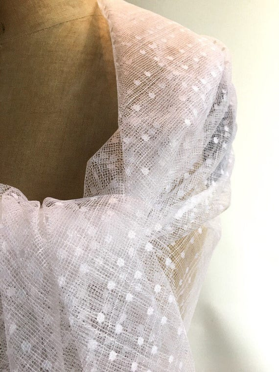 Etole mariée dentelle blanche avec fine dentelle de calais   Etsy d61427af6b8