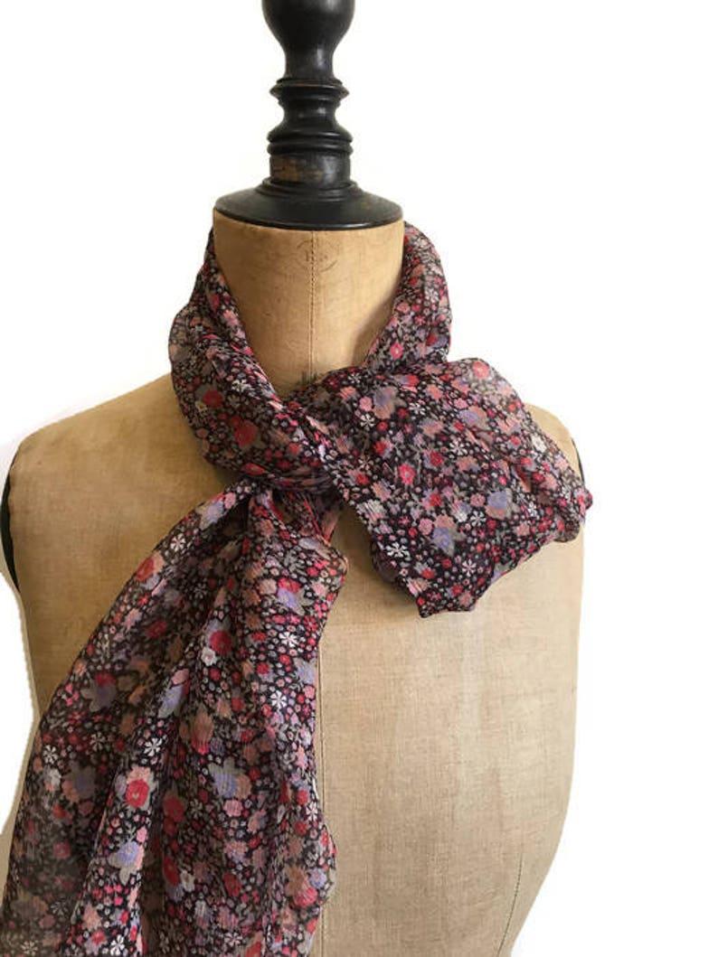 00c4c78cdb8 Foulard liberty soie imprimé petites fleurs mousseline soie