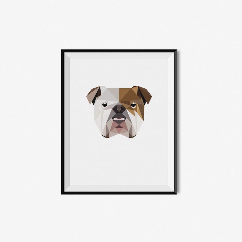 Regali Di Natale Traduzione Inglese.Regali Per Animali Ritratto Di Natale Regalo Bulldog Inglese Etsy