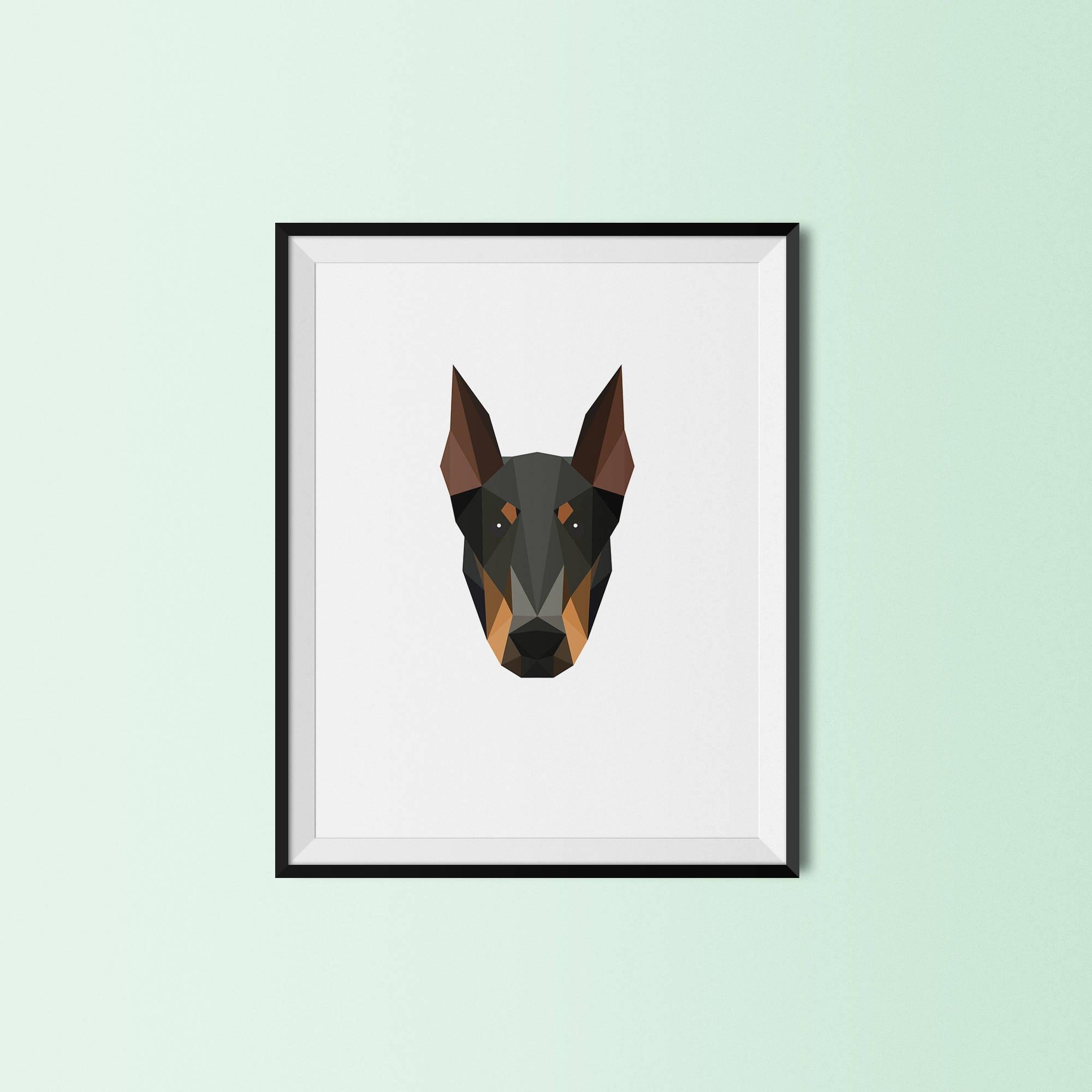 PET-Geschenk Weihnachtsgeschenk Dobermann Portrait | Etsy