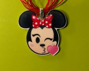 Mouse Blowing a Kiss Necklace