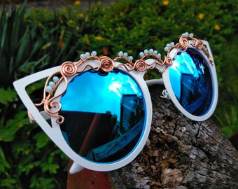 Retro Cateye Sunglasses ~ Wire Wrapped Sunglasses