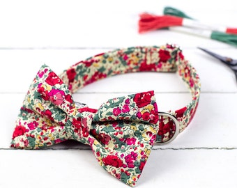Claire Liberty Dog Collar Bow Tie Set
