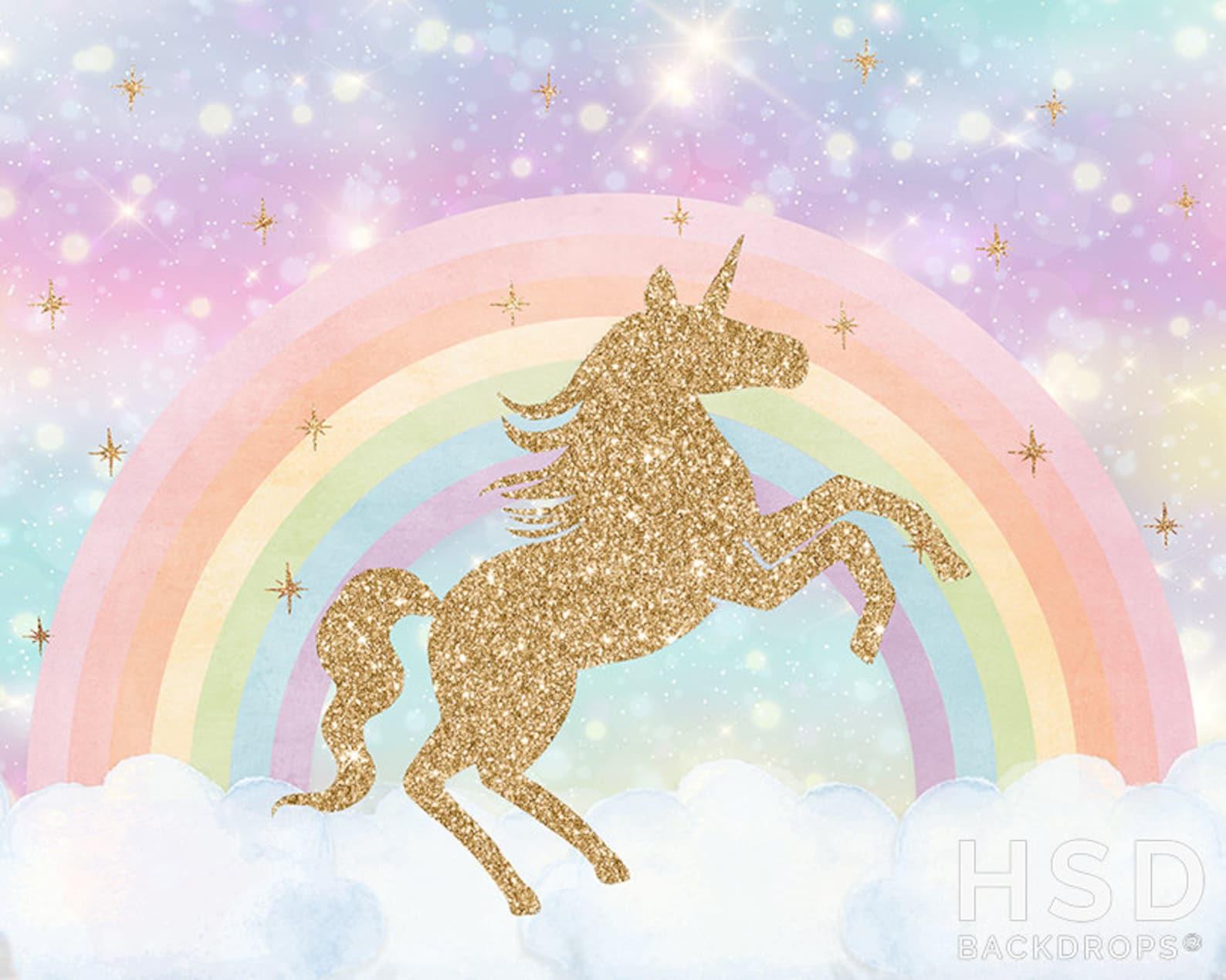 Unicorn Party Backdrops 8×4 Ft