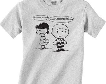 35cfd5040 Lucy and Charlie Brown Punk T-shirt