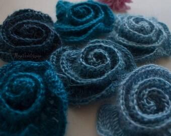Set flower DIY Kit Crochet collar Rose flower crochet Irish crochet Flower applique Crochet jewelry Flower necklace  Irish crochet 10pcs