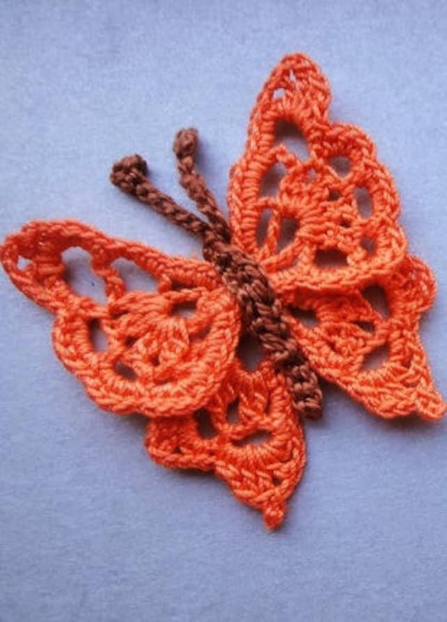 Patrón PDF ganchillo patrón mariposa Crochet tutorial flor | Etsy
