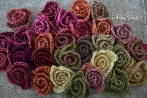 Rosa fascino kit fai da te fiore set 10pz uncinetto collare etsy