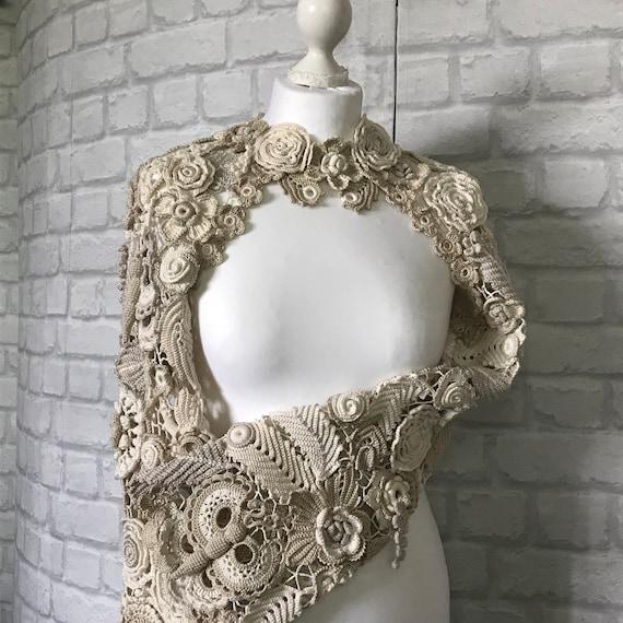 Moda de encaje regalo Boho chaqueta Vestido fiesta Ivore crudo | Etsy