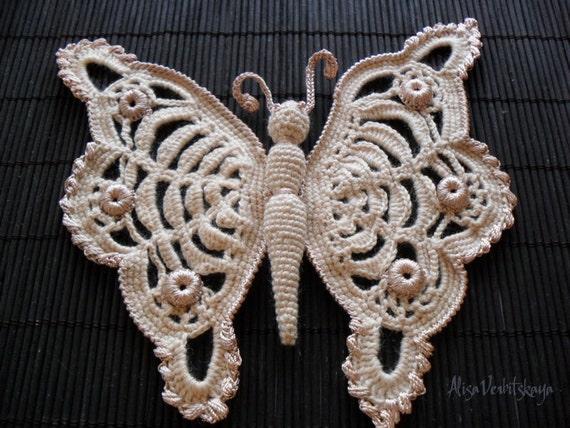 Häkeln Sie Muster Muster Schmetterling häkeln Anleitung Blume | Etsy