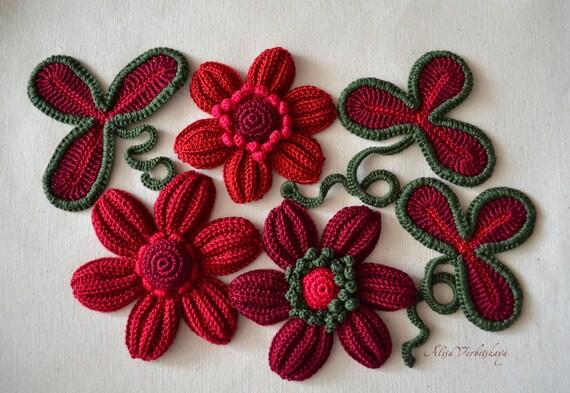 Set 10 Stück сrochet Blume Die Irischen Blumenapplikation Etsy
