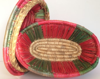 FREE SHIPPING - Antique Uganda Basket with Lid - 3