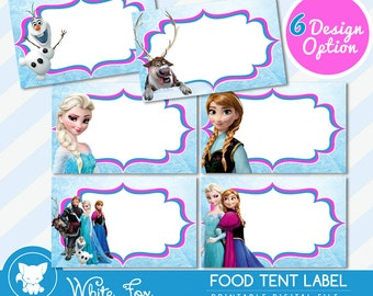 graphic relating to Free Printable Frozen Food Labels named Disneys frozen Etsy