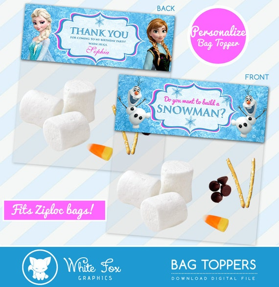 image about Do You Want to Build a Snowman Printable referred to as Do Your self Will need Towards Establish A Snowman, Frozen Choose, Customise Bag Toppers, Disney Frozen Take care of Bag Topper - Birthday Bash Printable Olaf