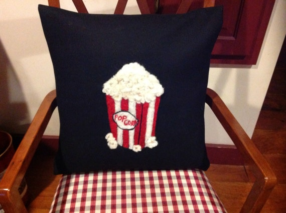 Movie theater Pop Corn pillow. Hand