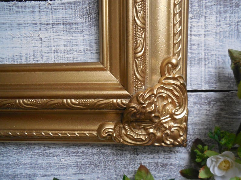 Open Large Frame Gold Baroque Style Picture Frame Gallery Wall 12X16 Hand Painted Frame Frame Collage