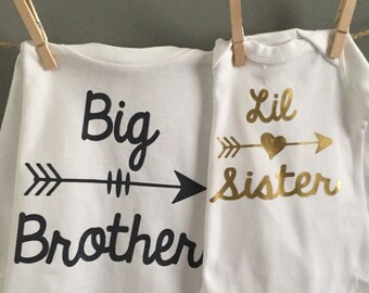 Big Brother/Little Sister Shirts DECALS, Big Brother Shirt DECAL, Sibling Shirt DECALS, Sister and Brother Shirts, Big Sis Lil Bro decals