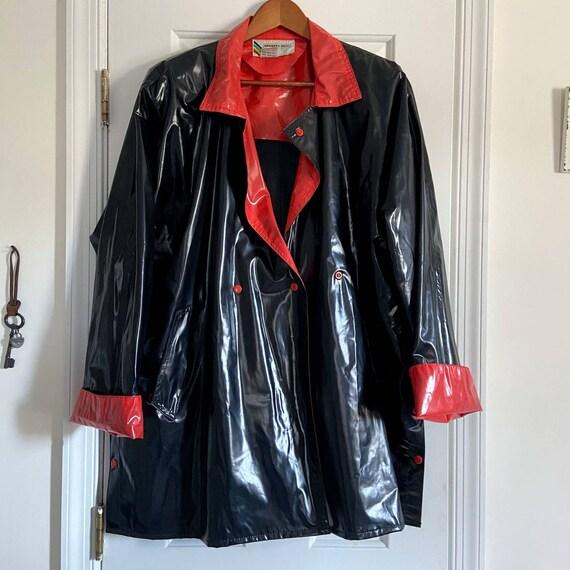 VTG Members Only Vinyl Jacket/Coat Rainbow Tag